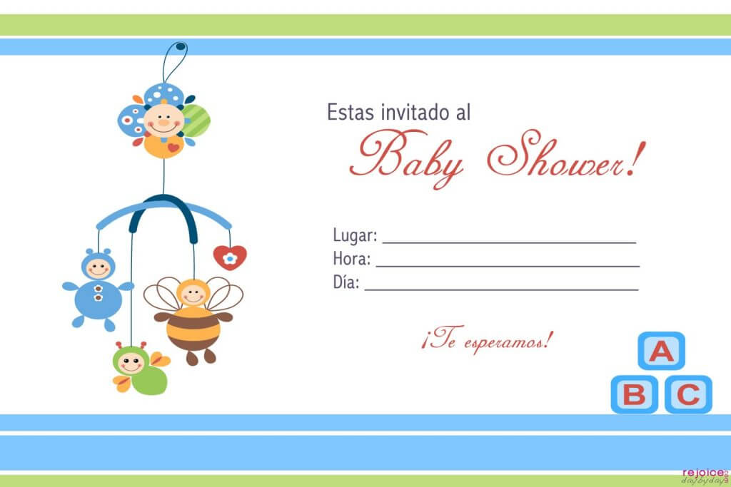 Invitacion de Baby Shower