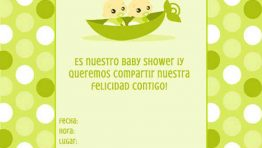 Invitaciones de Baby Shower Verde