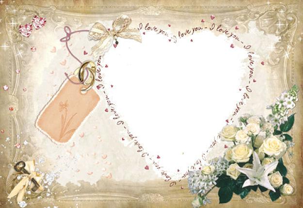 marcos de fotos de amor en forma de corazon png para descargar