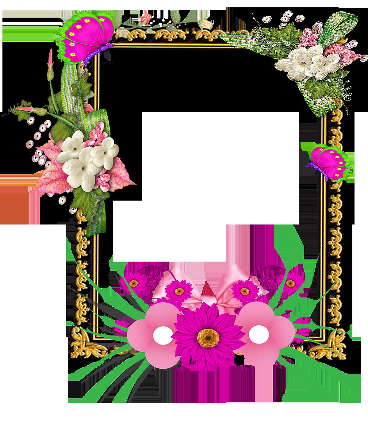 Marcos de fotos de flores 2018  PNG