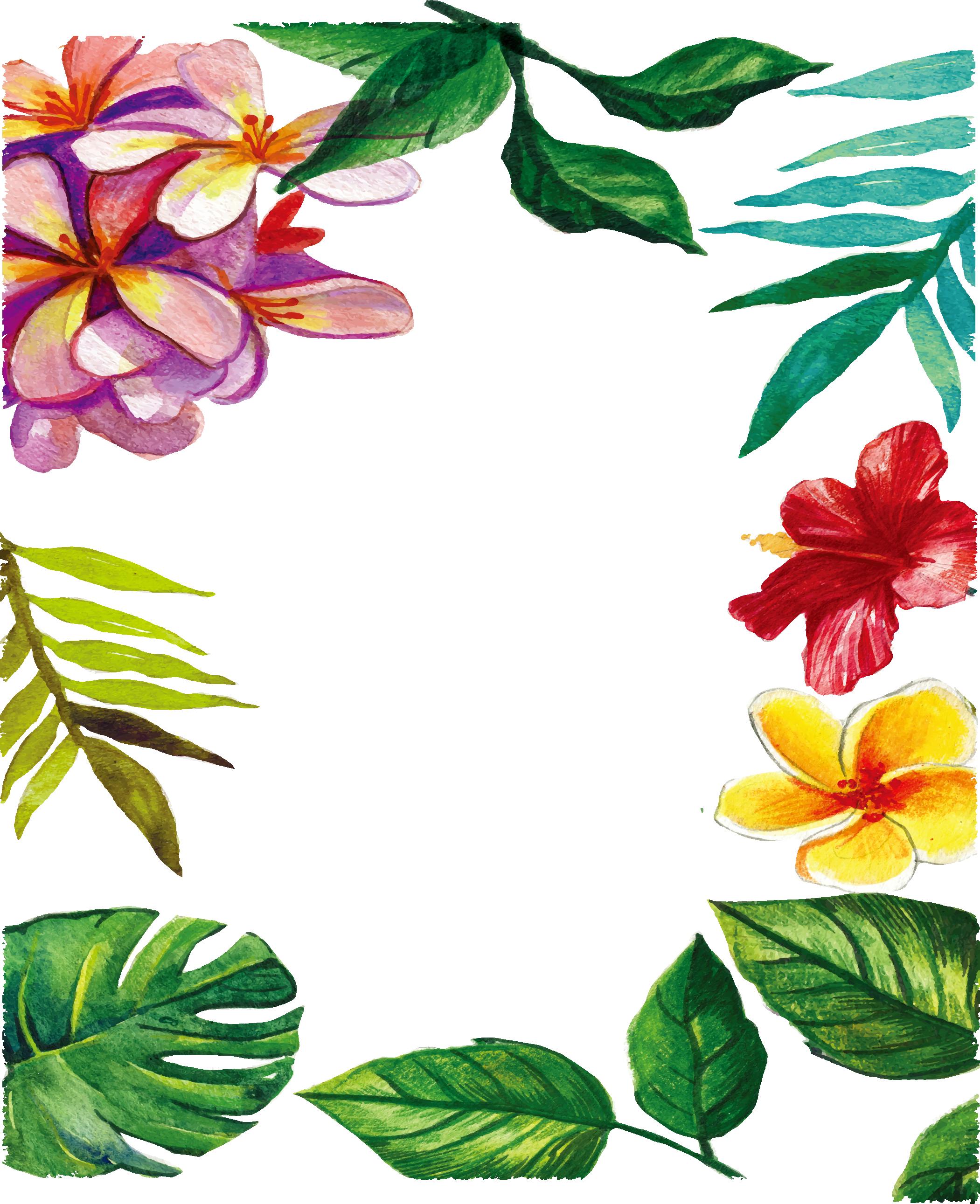lindos marcos de fotos con flores para descargar