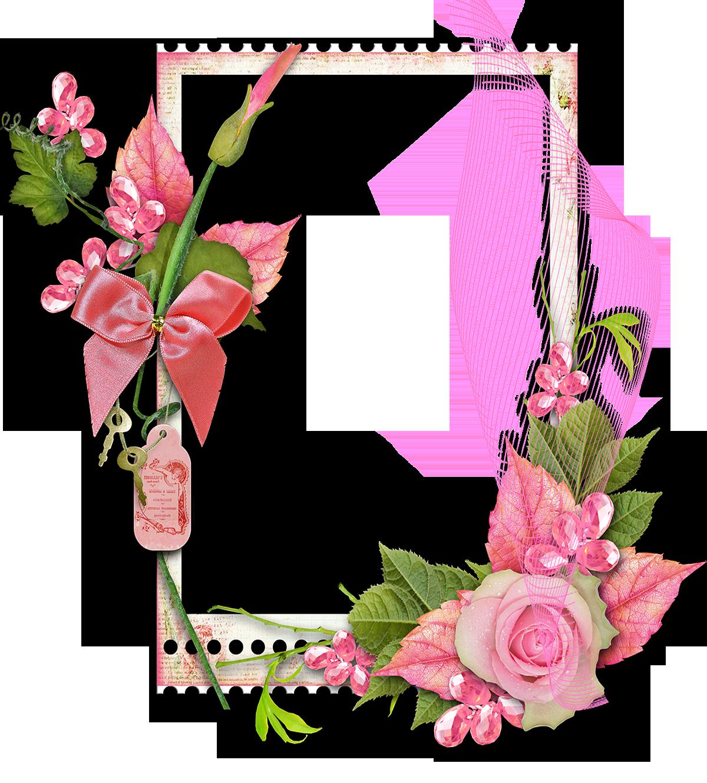 marcos de flores para editar png