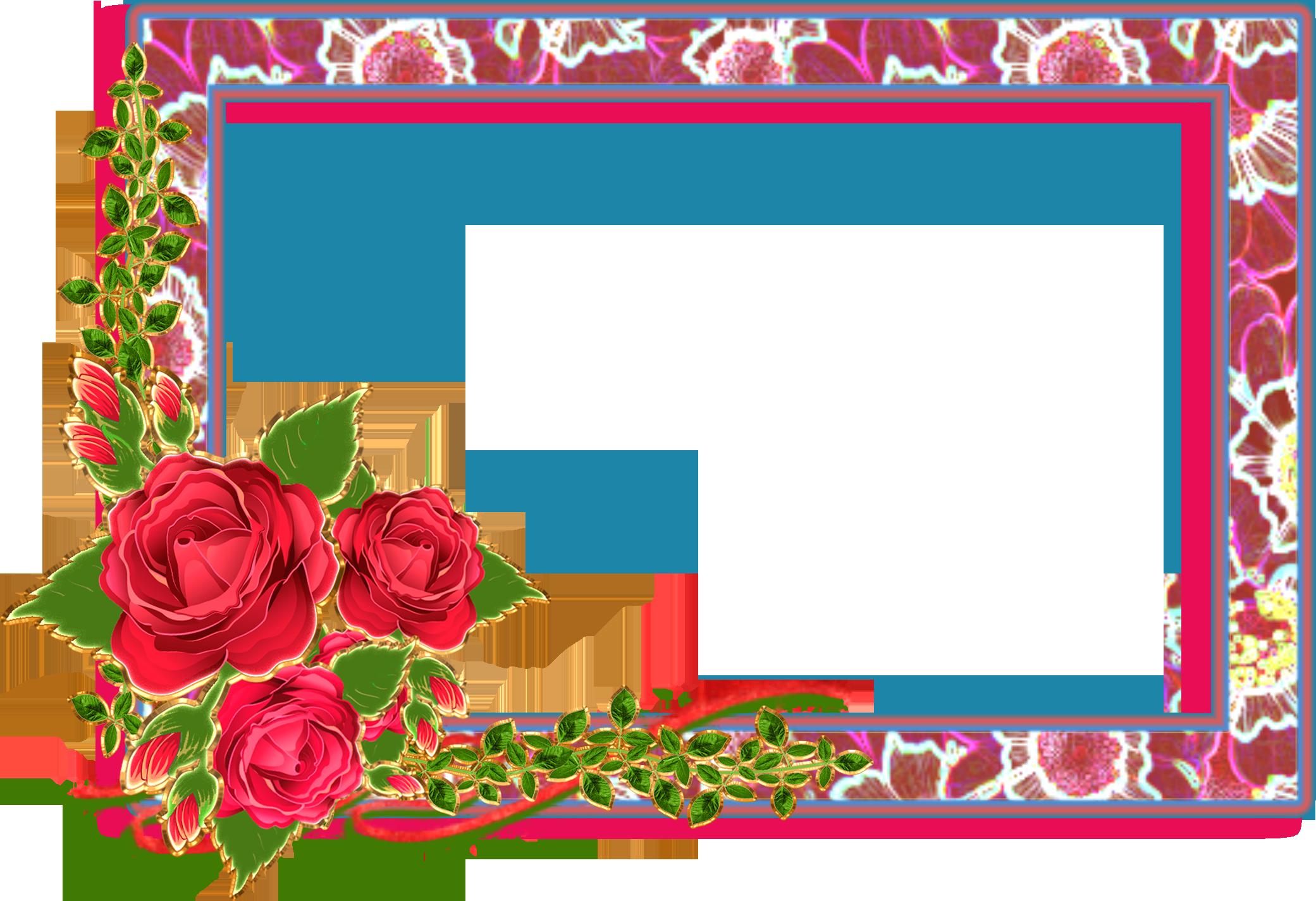 Lindos Marcos de Rosas en PNG