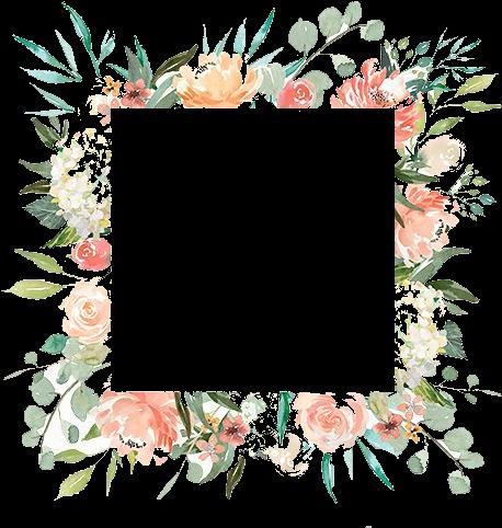 Collage de flores Marco para Descargar