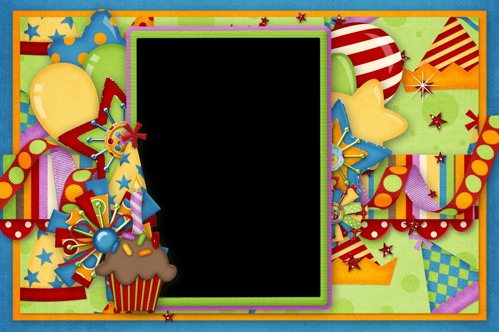 Marco de Cumple con Dulces y Confeti
