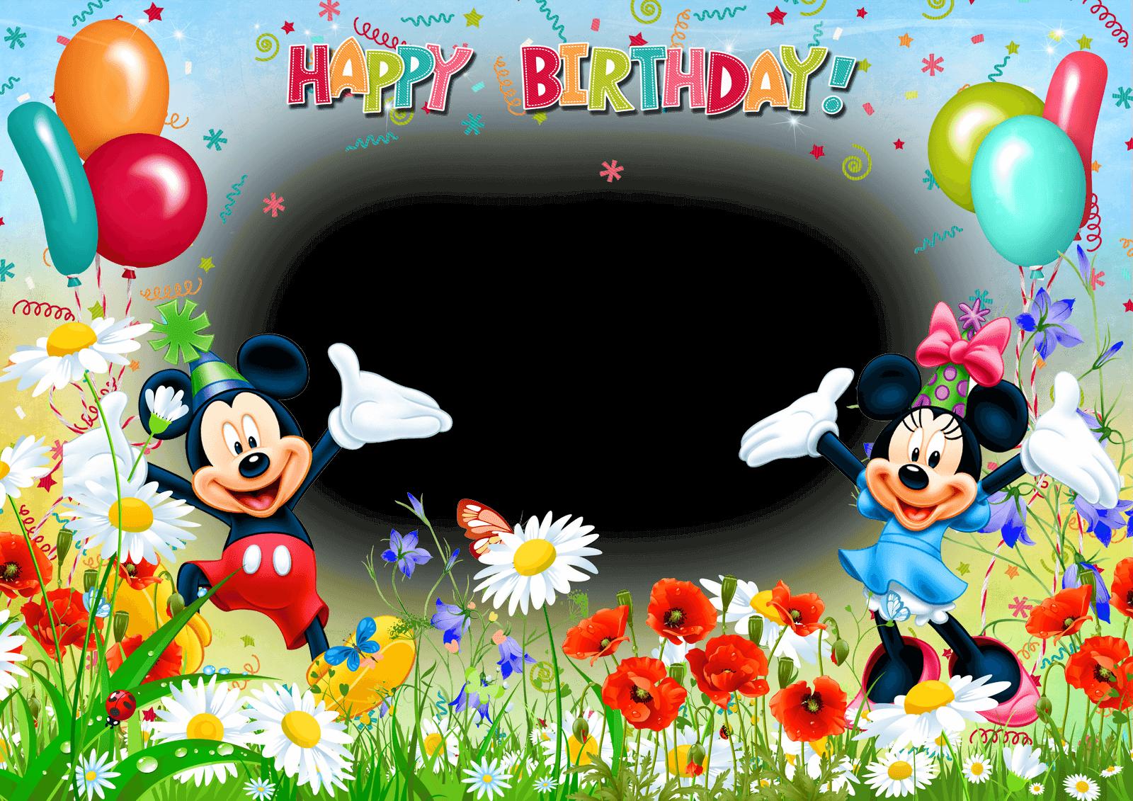Marco de Foto de Cumpleaños de Mickey
