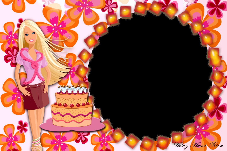 Marco de Foto de Cumpleaños Barbie Rosa