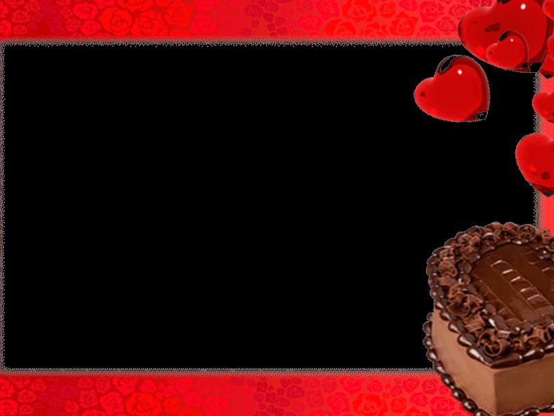 Marco Foto de Tarta de Chocolate con Corazón