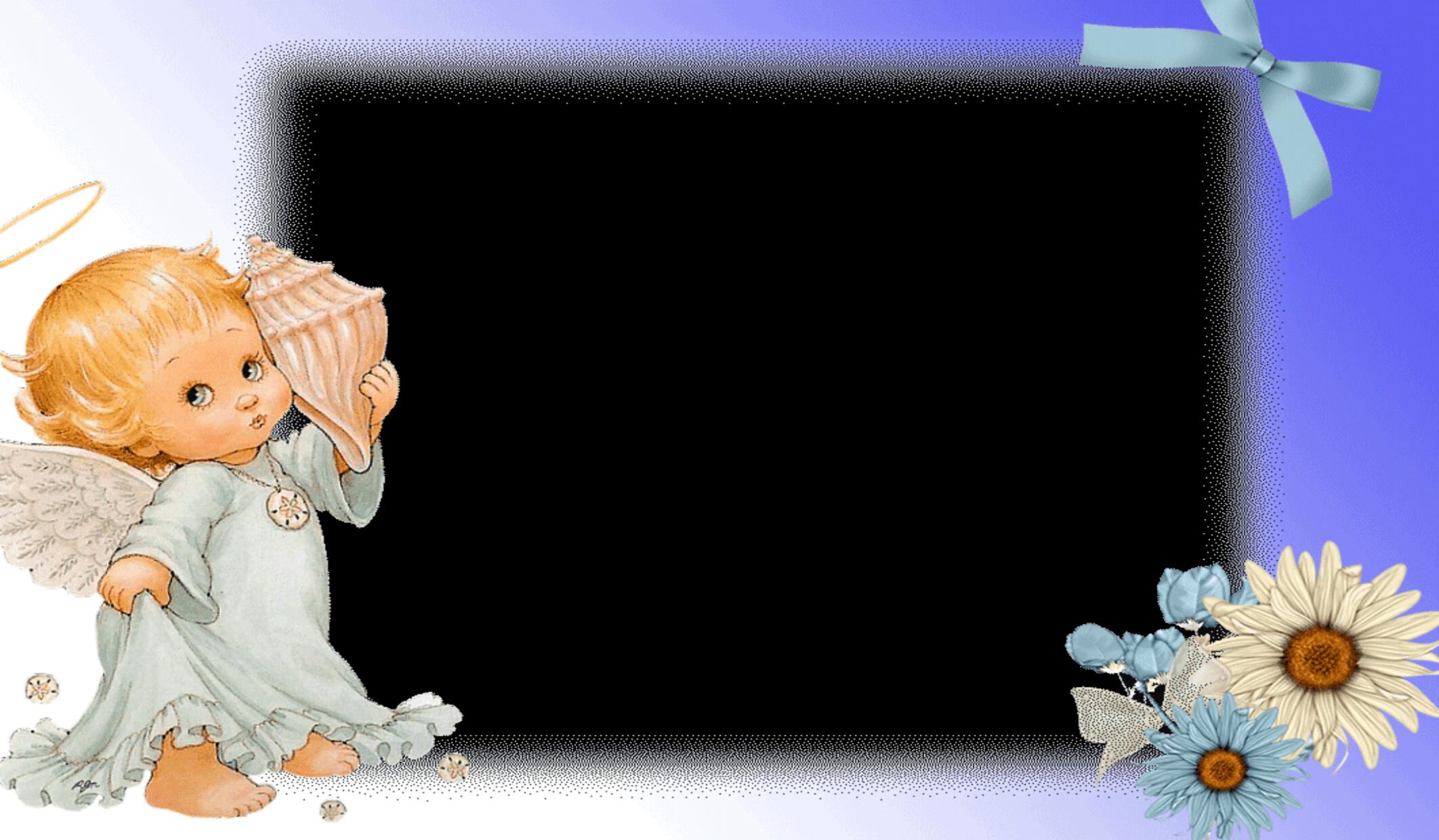 Marco de Foto para Bebé Azul y Lila