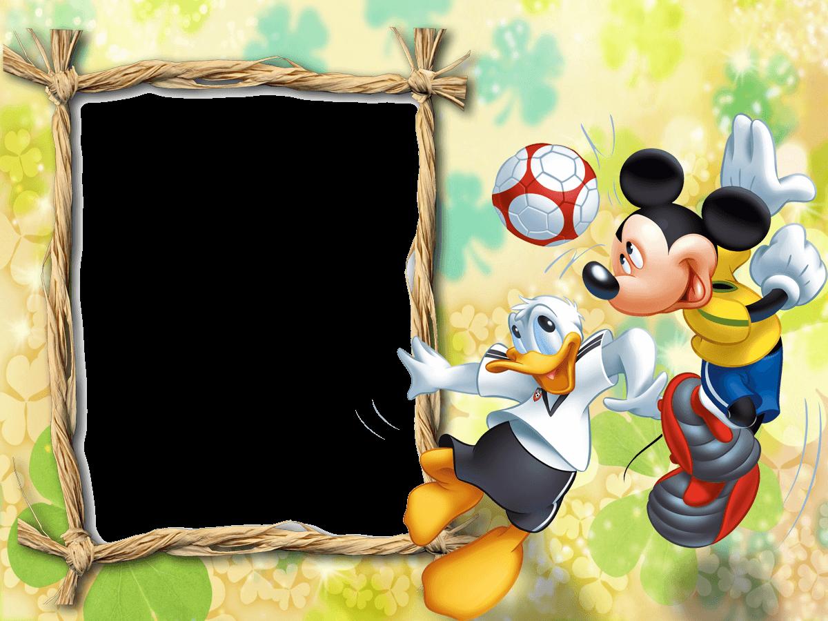 marco de foto mickey futbol
