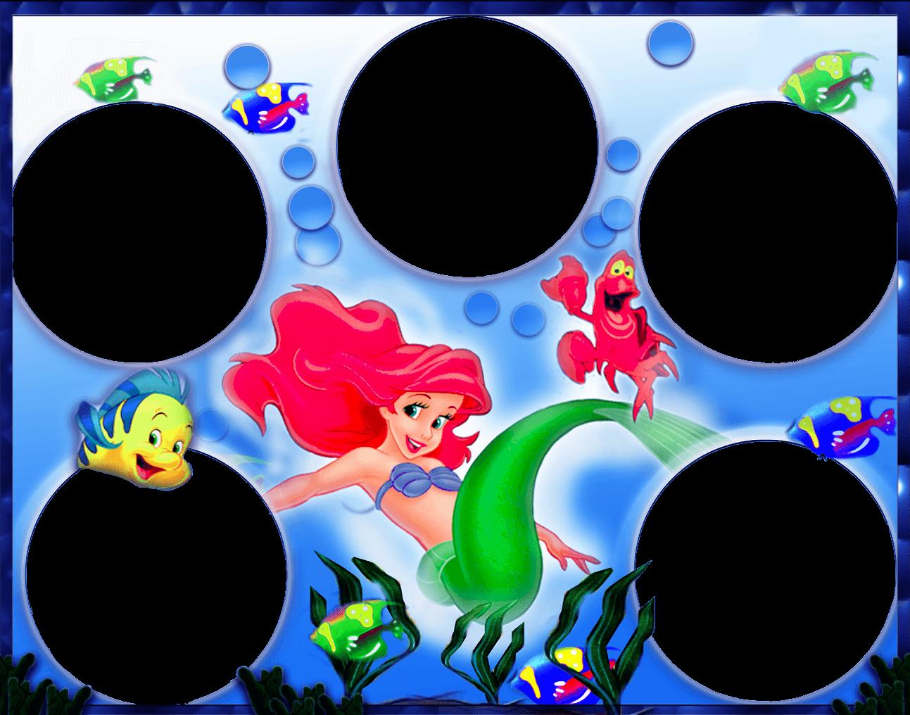 Marco de Foto Disney – La Sirenita | Descargar Marcos