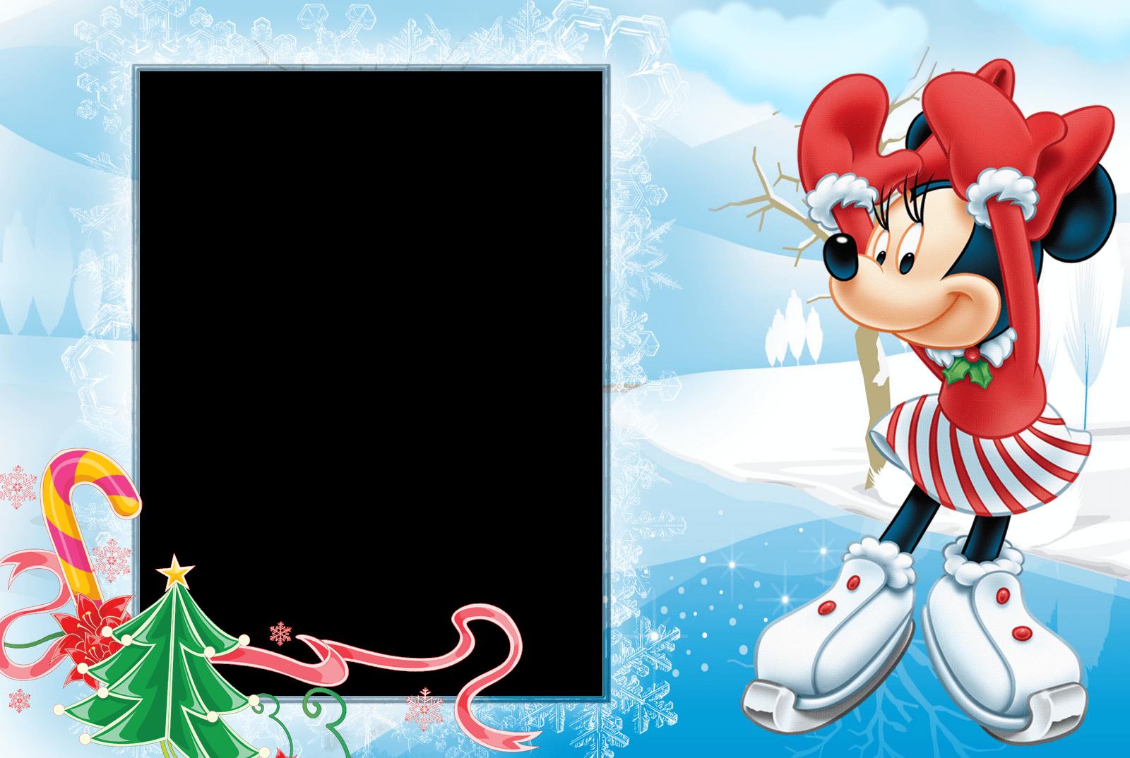marco de foto minie nieve