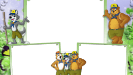 marco de foto osos