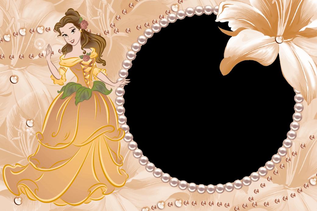 Marco Naranja de Bella y Bestia Disney | Descargar Marcos
