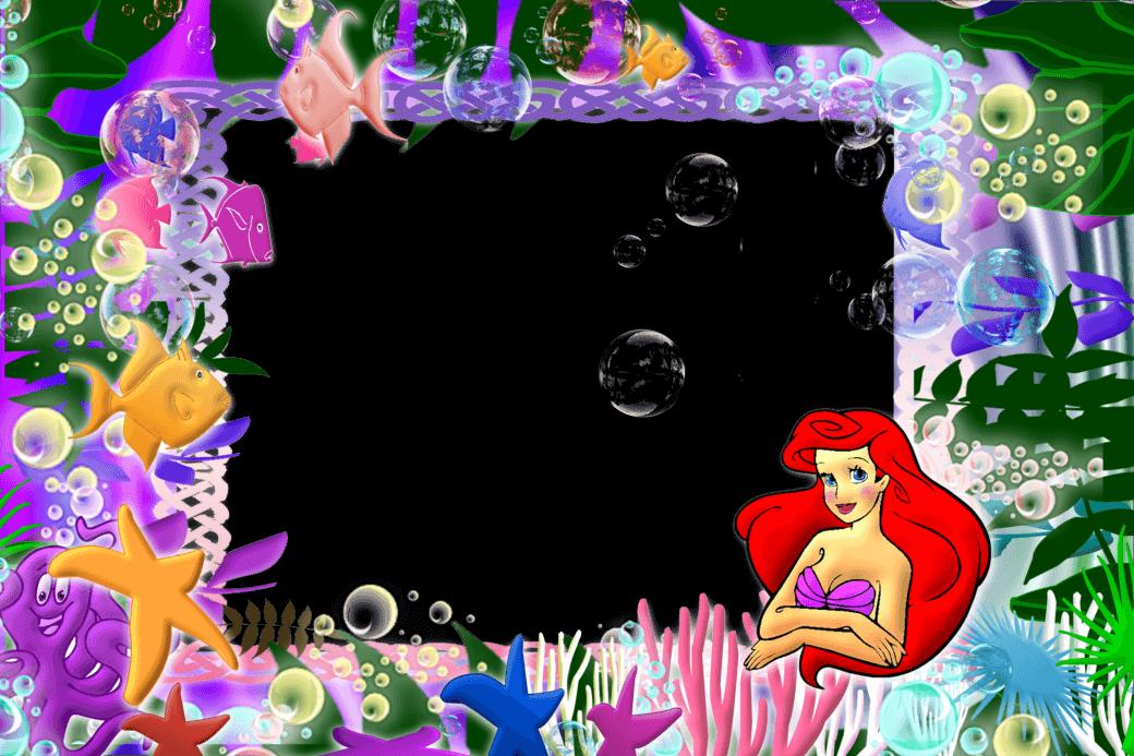 Marco de Foto La Sirenita 3 | Descargar Marcos