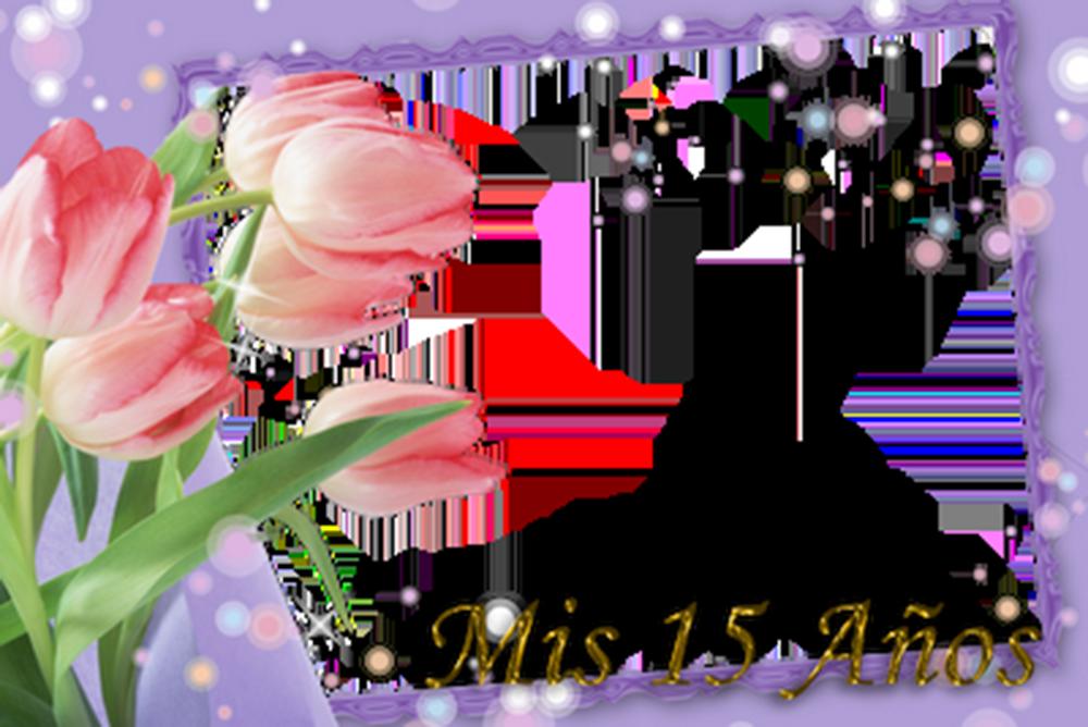Marco de Tulipanes para 15 años | Descargar Marcos