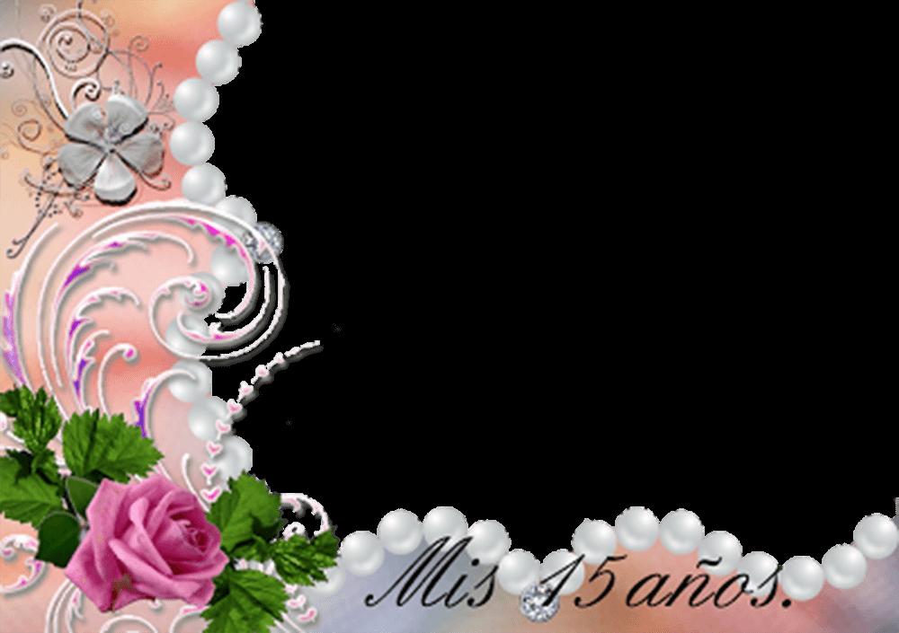 Marco de Rosas y Perlas 15 años | Descargar Marcos