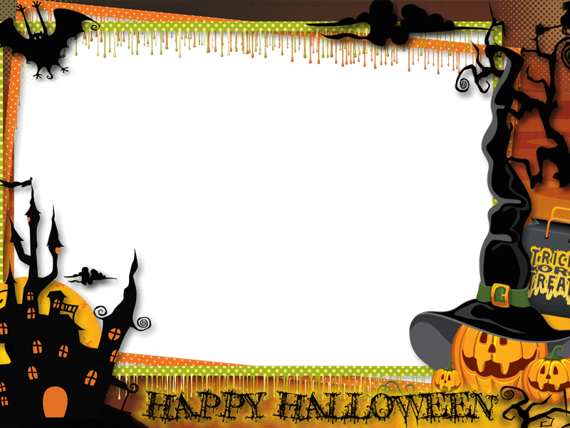 Marco Naranja y Negro Halloween