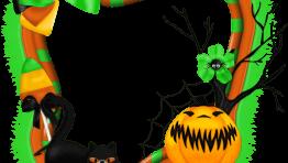 Marco para Halloween Verde y Naranja