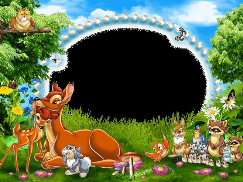 marco de foto bambi