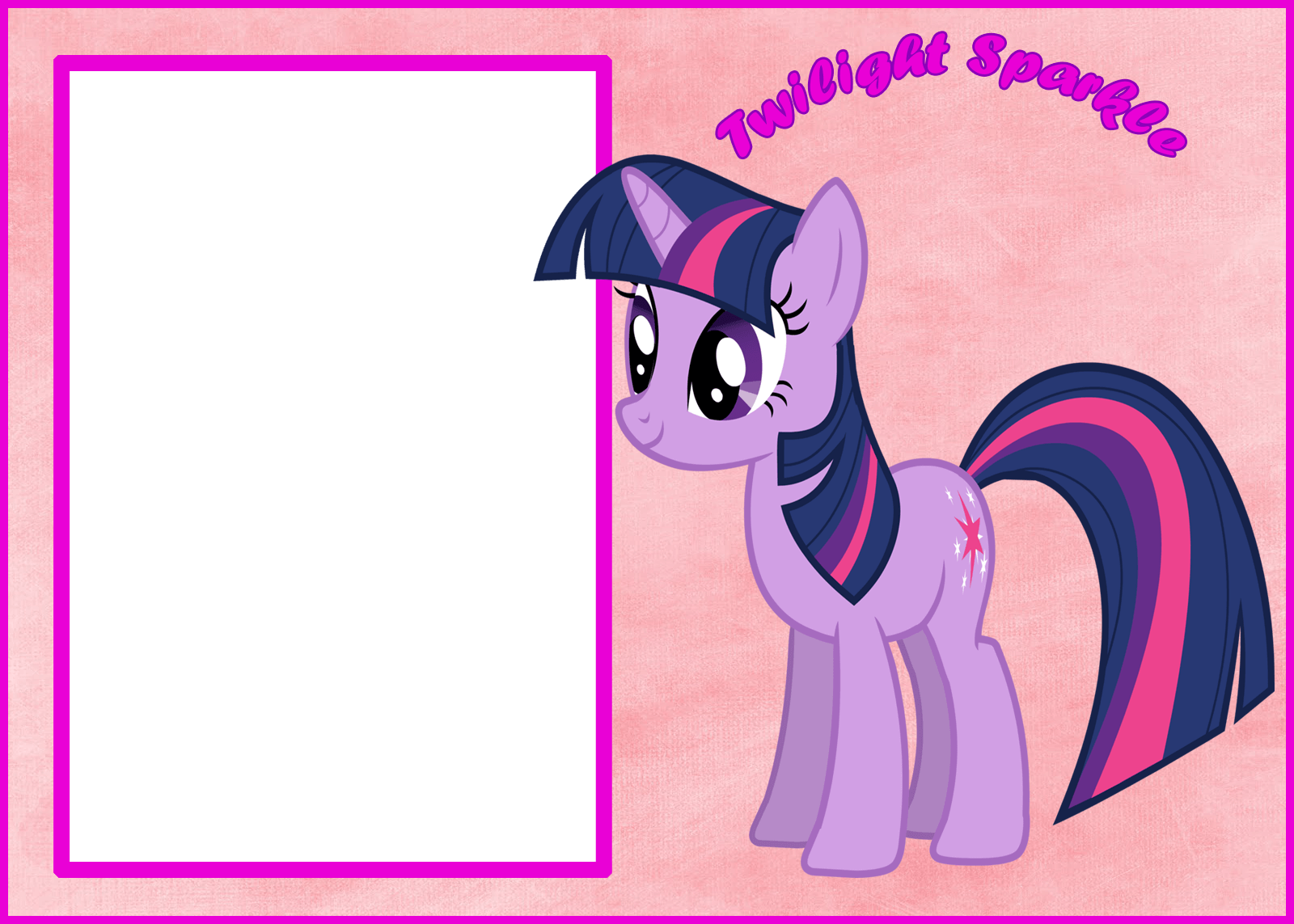 Marco Foto Twilight Sparkle Little My Pony