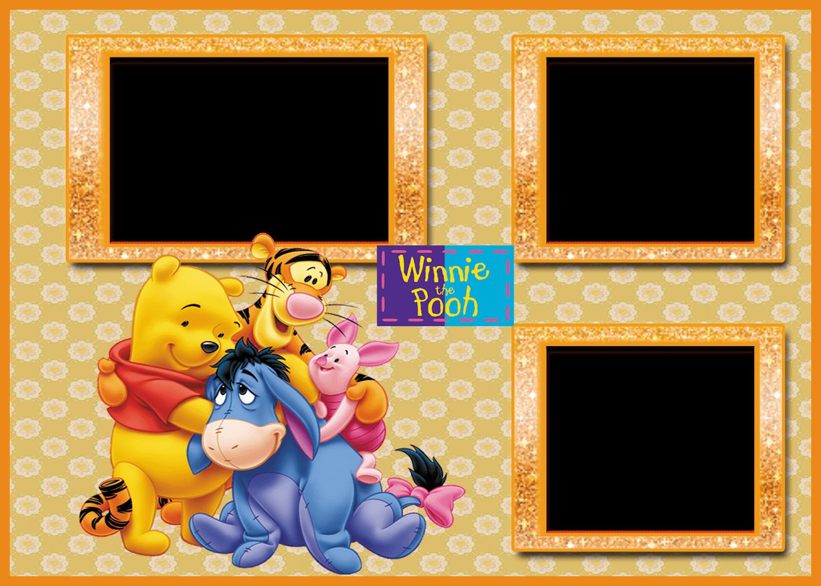 Marco de Foto Winnie Pooh 3 | Descargar Marcos