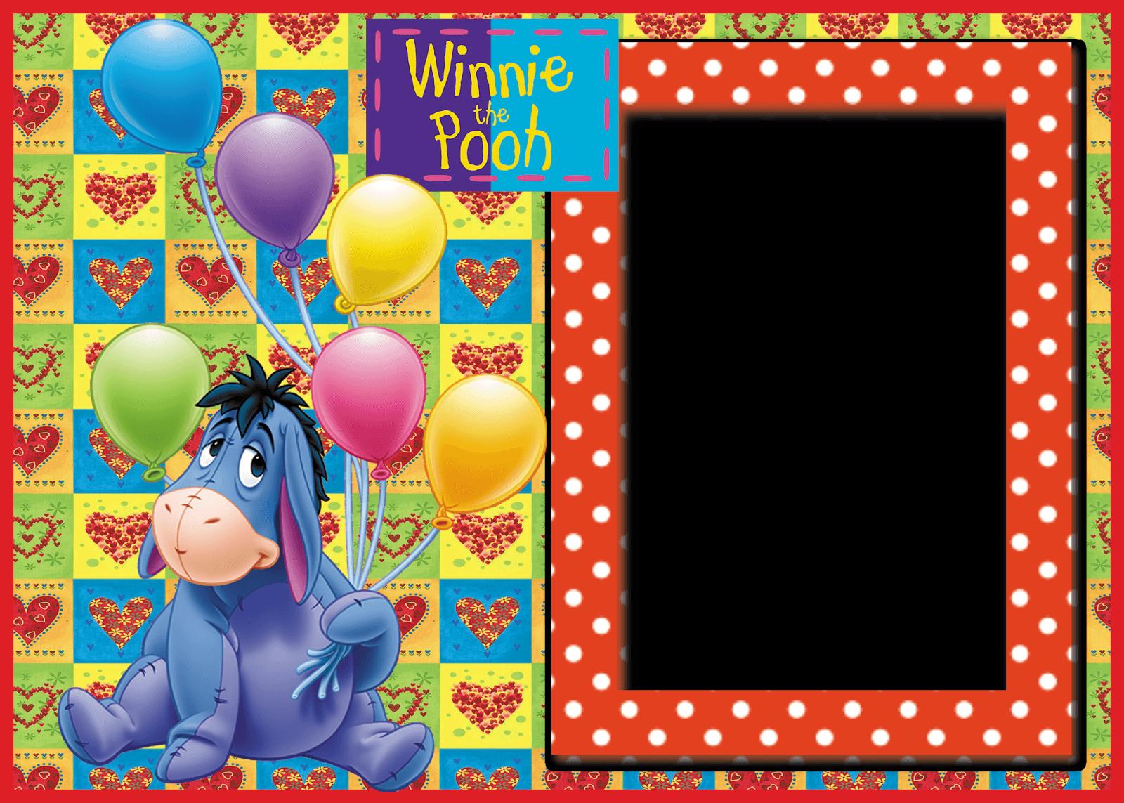 Marco de Winnie Pooh con Globos   Descargar Marcos