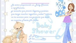 Invitacion de Baby Shower Azul