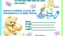 Invitaciones de Baby Shower Ciguena