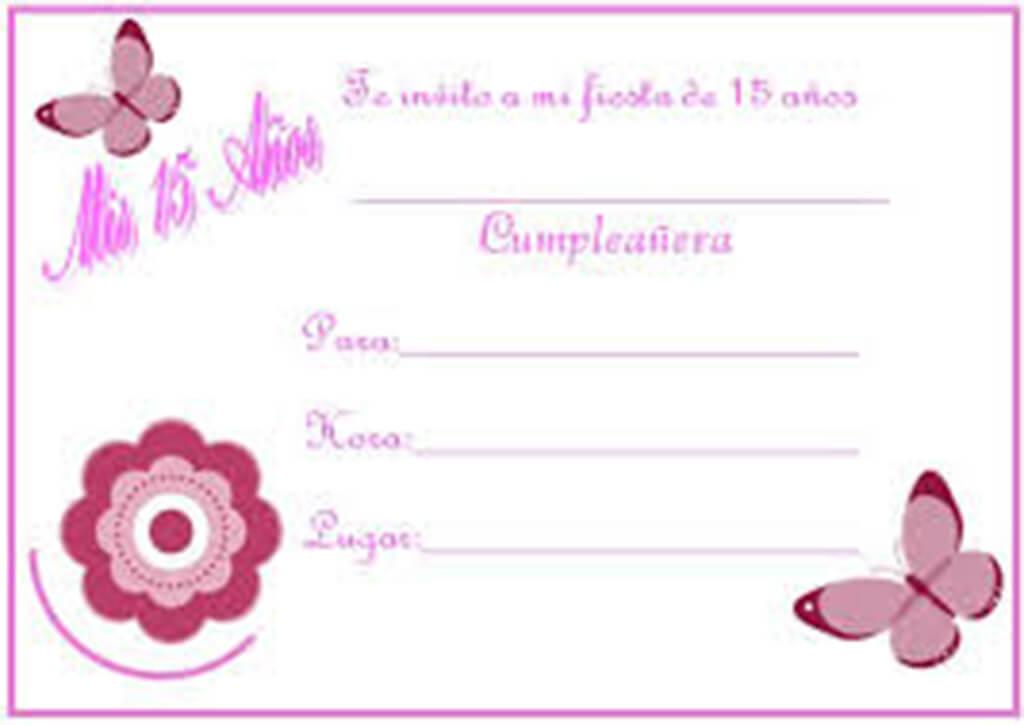 Invitaciones 15 Años Descargar Marcos