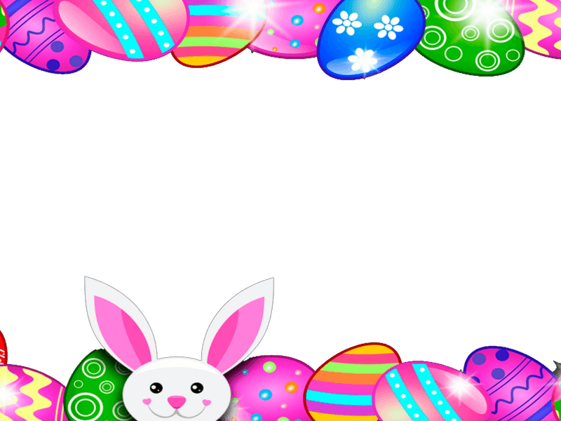 Marco para Foto Conejo de Pascua