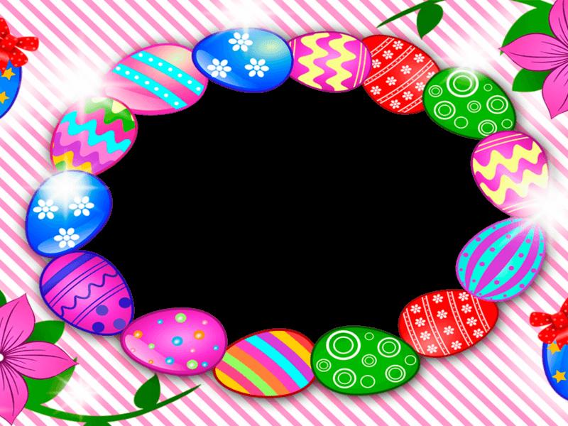 Marco para Foto con Huevos de Pascua