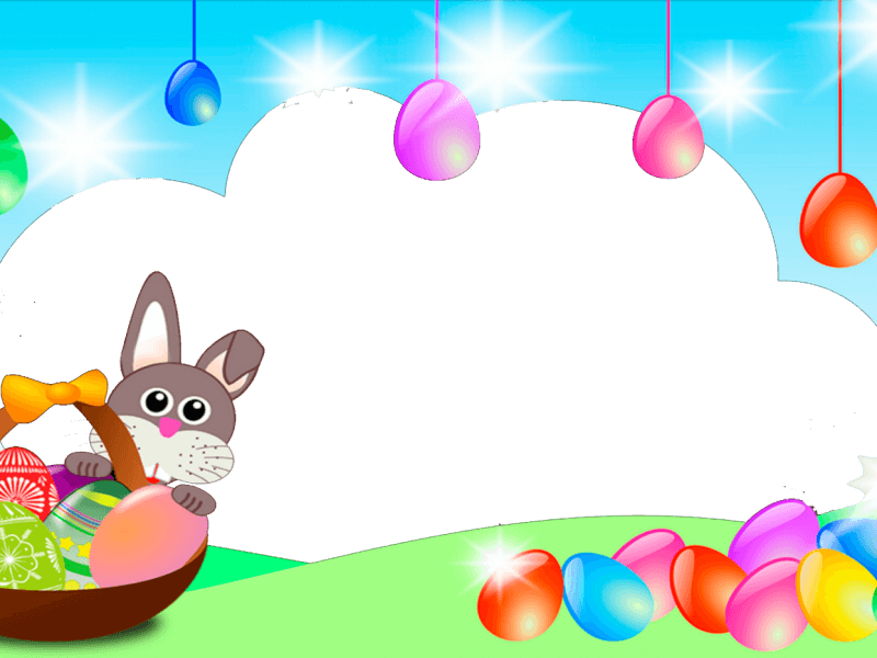 Marco para Foto con Conejito de Pascua