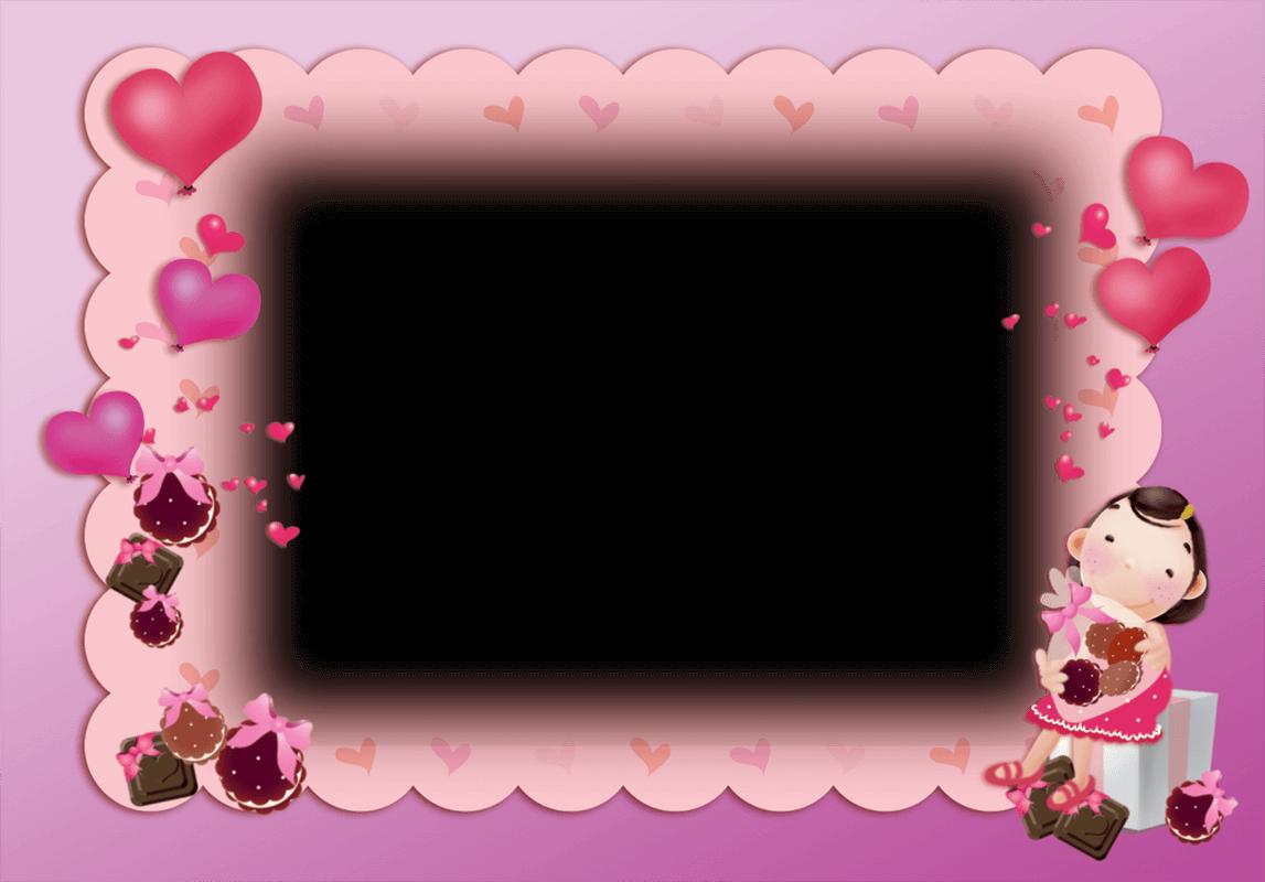 Marco Bonito de Color Rosa para San Valentin | Descargar Marcos